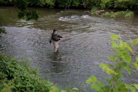 Fly Fishing on River Taw - Umberliegh Devon
