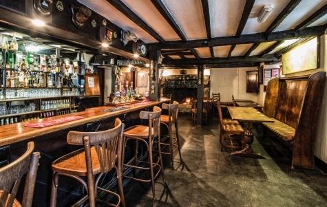 Cosy Devonshire Bar at Half Moon Inn Sheepwash