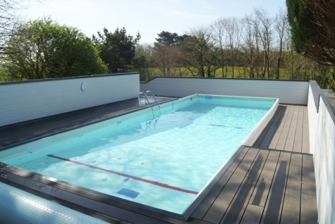 Outdoor Heated Swimming Pool at Nanteague Farm Holidays