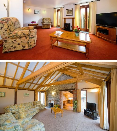 Inside luxury self catering Lodges at Forda Holidays Bude Cornwall