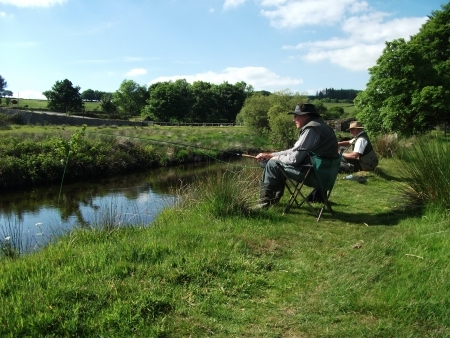 Fly Fishing River Dart at Two Bridges Hotel on Dartmoor