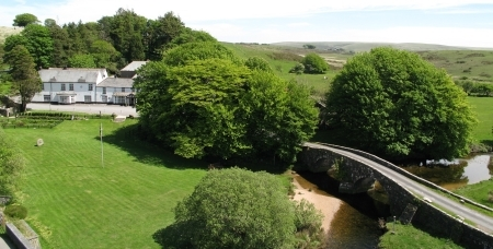 Fly Fishing Breaks on River Dart at Two Bridges Hotel Dartmoor Devon
