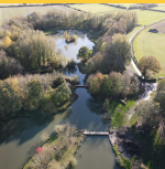 Two Coarse and Carp fishing Lakes at Thorney Lakes Camping Somerset