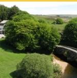 Fly Fishing Breaks on River Dart at Two Bridges Hotel Dartmoor Devon