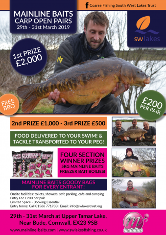 Mainline Baits Carp Competition Upper Tamar Lakes March 2019